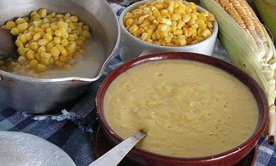 Mazamorra de maíz