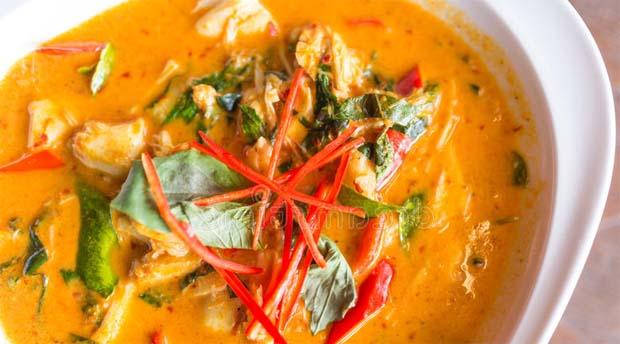 Sopa de coco Cangrejo