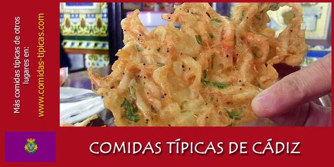 Comidas típicas de Cádiz (España)